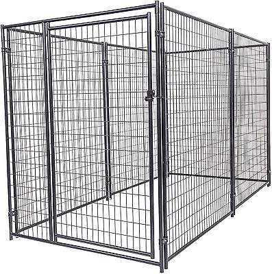 Chain Link Dog Kennel Outdoor Modular Steel  Wire Kit  Pet Large Fence Pen Cage