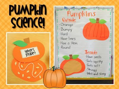 The pumpkin's insides craft gives me an idea. I may use a brad to make the top pumpkin swivel back & forth. The kids will love it because it moves.