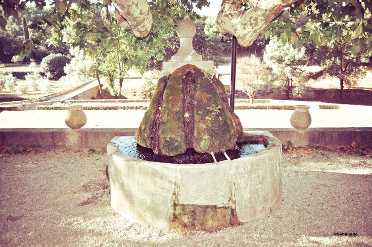 Fontaine au Château Fontainebleau du Var. Fountain in the Fontainebleau Castle in Provence #vin #wine #fontaine #fountain #stone ©Sebanado  http://sebanado.fr
