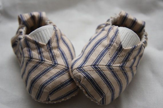Mattress Ticking Baby Toms Style Shoes Vintage by jumpingPineapple, $20.00