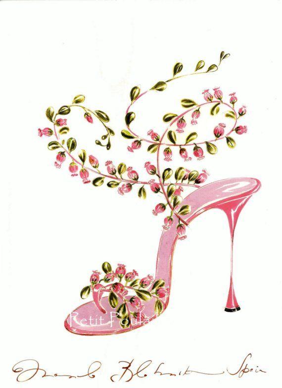 2003 Manolo Blahnik Sketchbook Illustrations, Shoe Couture, Pl 167-168