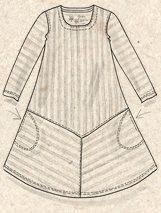 Gestreepte jurk van biokatoen–Rokken & jurken–GUDRUN SJÖDÉN – Kleding Online & Postorder