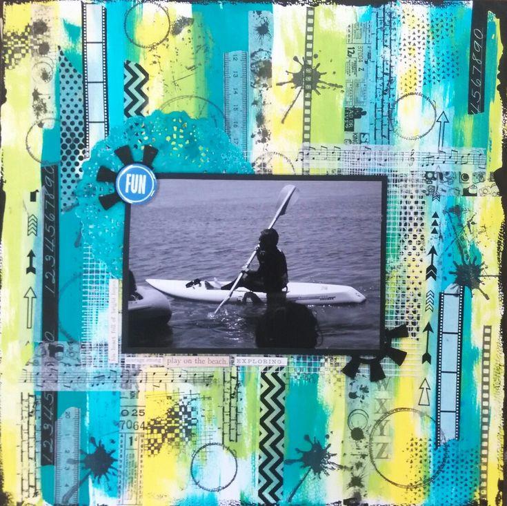 Scrapbooking summer Paddle