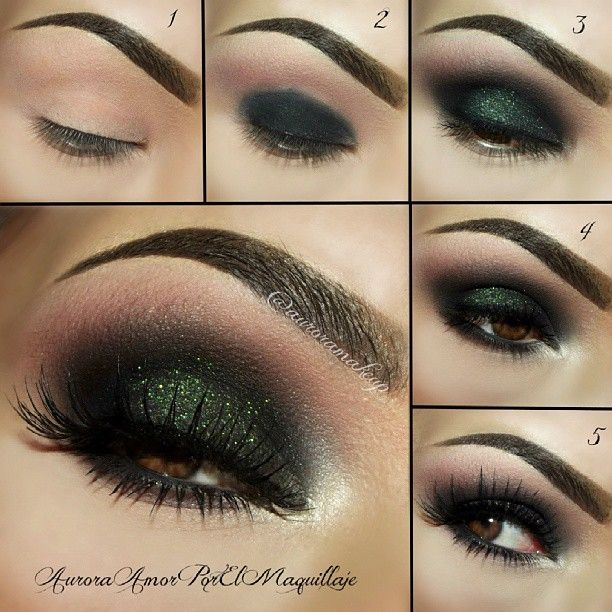 Dramatic green smoky eye with PICTORIAL!!! ♥♥♥ Not sure where I would wear it, but I like it.