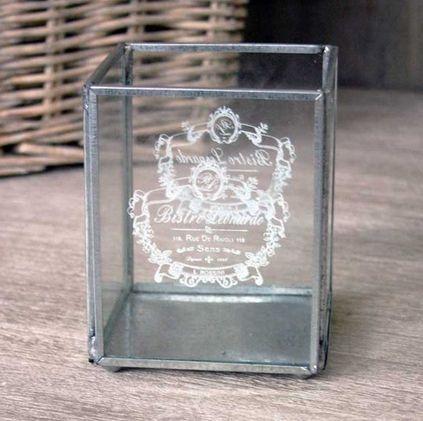 Bistro Glass Tea Light Holder - £8.50 - Hicks and Hicks
