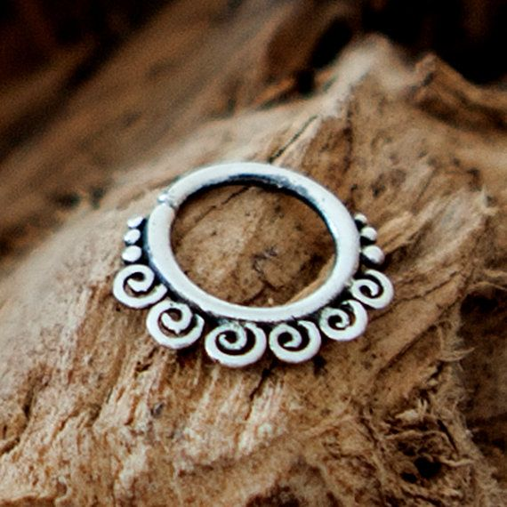 Silver Nose Ring - Silver Nose Hoop - Nose Jewelry - Nostril Hoop - Nose Piercing - Nose Earring - Nostril Ring - Nostril Jewelry  Beuatiful sterling silver nose ring.  20 Gauge - 0.8mm  Inner diameter - 8mm $14