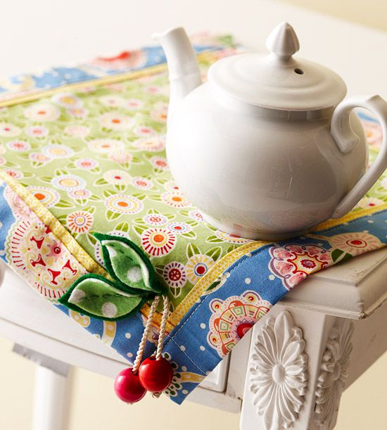 Cherry Table Mat: Craft, Sewing Projects, Patterned Table, Tablemat, Place Mats
