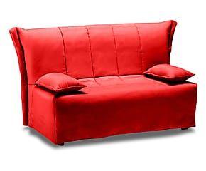 Divano letto a 2 posti in cotone Cedro rosso - 120x85x90 cm