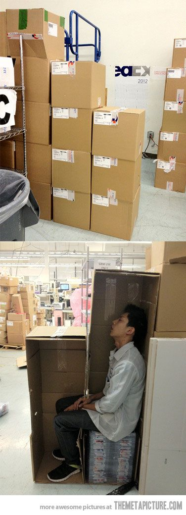 Sleeping at work. Level: Asain