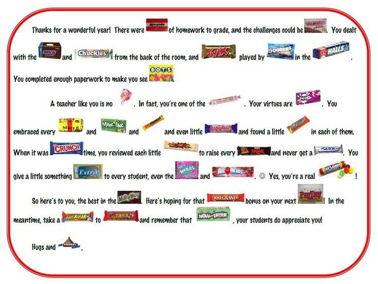 16 best teacher thank you images on Pinterest Teacher - thank you notes for teachers