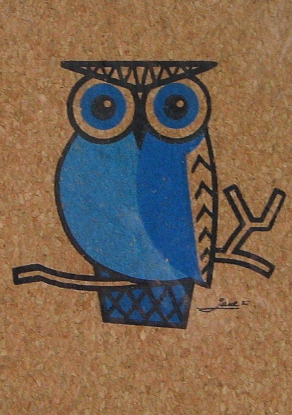 vintage owl - -   the Elemental Owl
