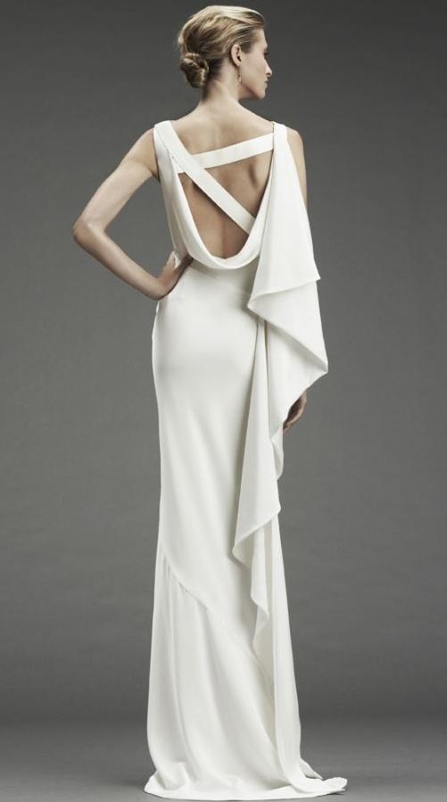 Grecian drape gown / Nicole Miller