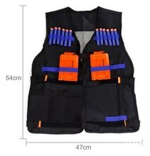 Envío gratis Nerf chaleco táctico chaleco chaqueta revista Ammo sostenedor para N-Strike Elite balas de pistola armas de juguete Clip dardos(China (Mainland))