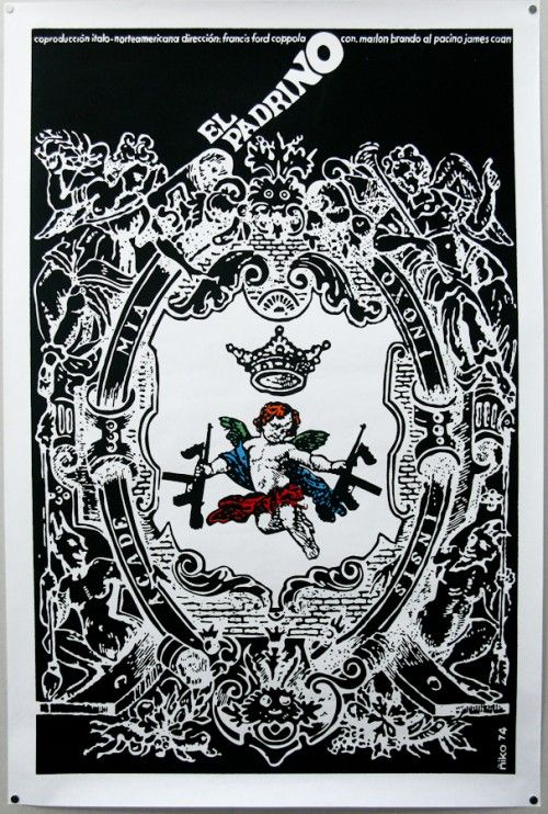 El Padrino screenprint poster, 1974  by Antonio Pérez González Ñiko