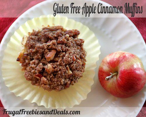 Gluten Free Apple Cinnamon Muffins recipe- Breakfast #freezercooking #glutenfree #dairyfree