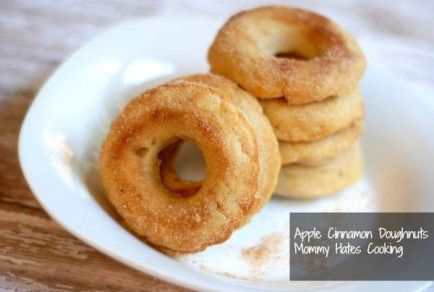 BAKED APPLE CINNAMON DOUGHNUTS | Breakfast | Pinterest