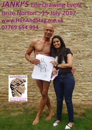 Smiles at the end of Janki's Life Drawing Class say it all!