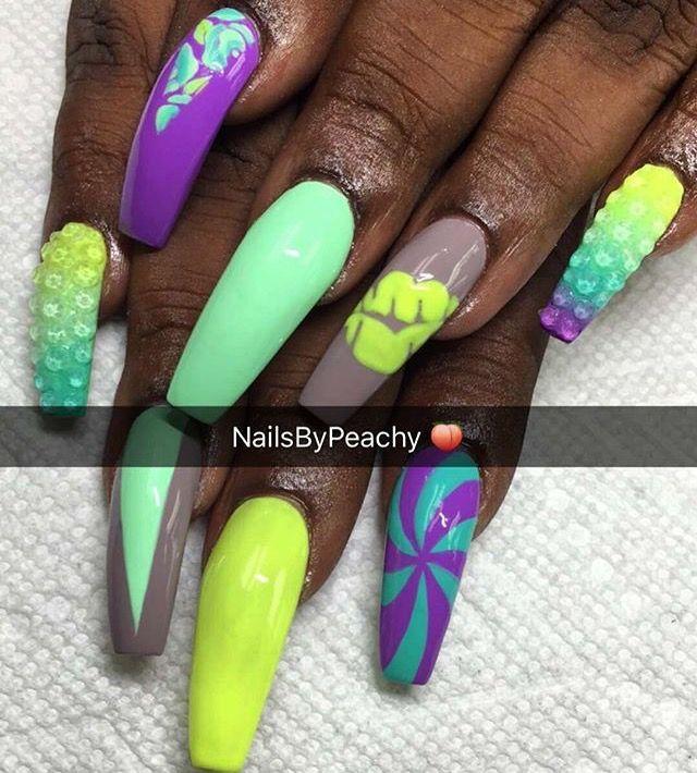 Mejores 143 imágenes de Nails en Pinterest | Diseños artísticos en ...