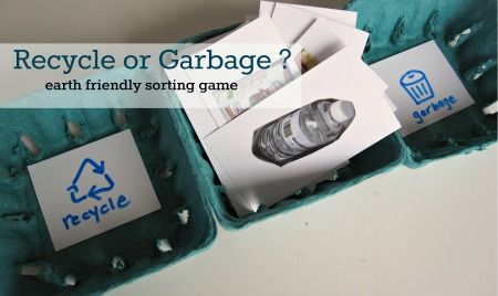 Recycling Think and Sort Game--This looks fun. :-) Now to find pictures of trash. haha