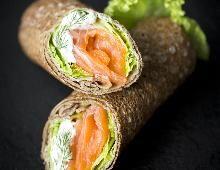 Wraps de saumon à la crème de ciboulette