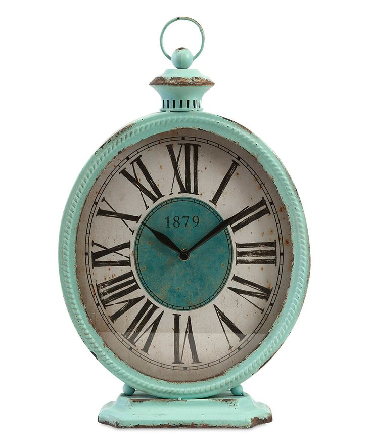 This Teal Arnold Metal Clock by IMAX is perfect! #zulilyfinds
