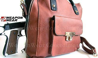 #169 Brown NEW STYLE Concealment Concealed Carry CCW Holster Gun Tote Purse