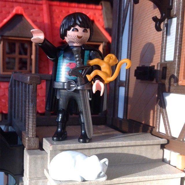 But Falcone does have a monkey. #Falcone #happiness #bff #playmobil #MerrieMen #forest_village
