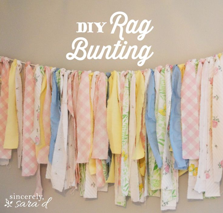 {easy} DIY Rag Bunting. Maybe as a valence or a way to do up the vintage window in Bean's room