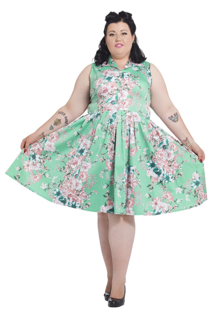 We love this beautiful spring floral 'Tilly' dress from Voodoo Vixen! Available online now in sizes 16-26 -->  http://www.claireabellascloset.co.uk/vintage/vintage-plus-size/product/1018-voodoo-vixen-plus-size-tilly-dress