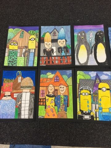 American Gothic Parodies - Jamestown Elementary Art Blog