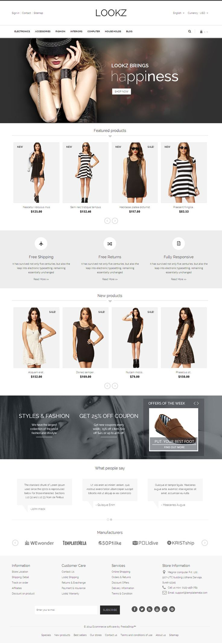 Lookz Prestashop Parallax Template - Download http://themeforest.net/item/lookz-prestashop-parallax-template/6917294?ref=pxcr