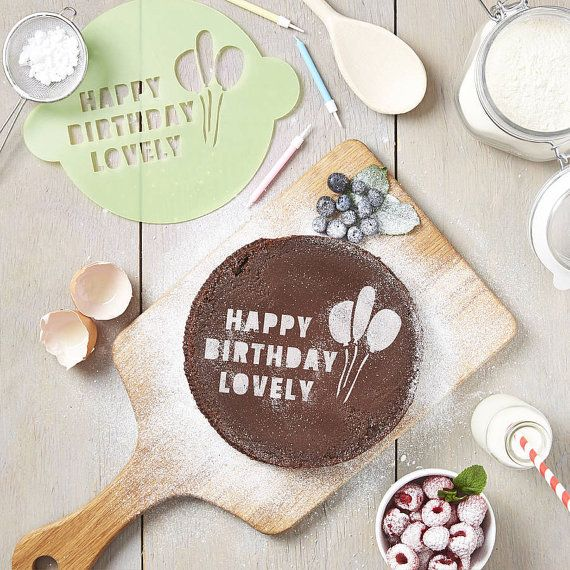 Personalised Happy Birthday Cake Stencil by SophiaVictoriaJoyLtd, £16.95