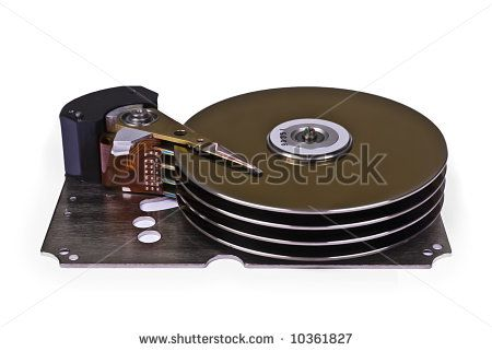 Internals of a hard disk drive