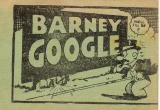 Tijuana Bible Museum: Barney Google