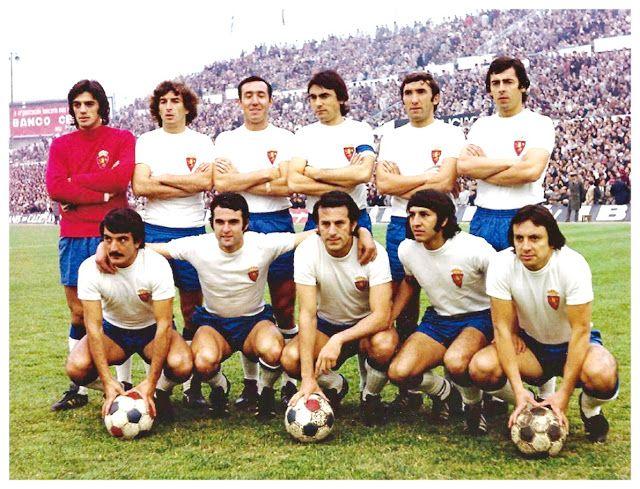 Equipos de fútbol: REAL ZARAGOZA contra Barcelona 18/11/1973
