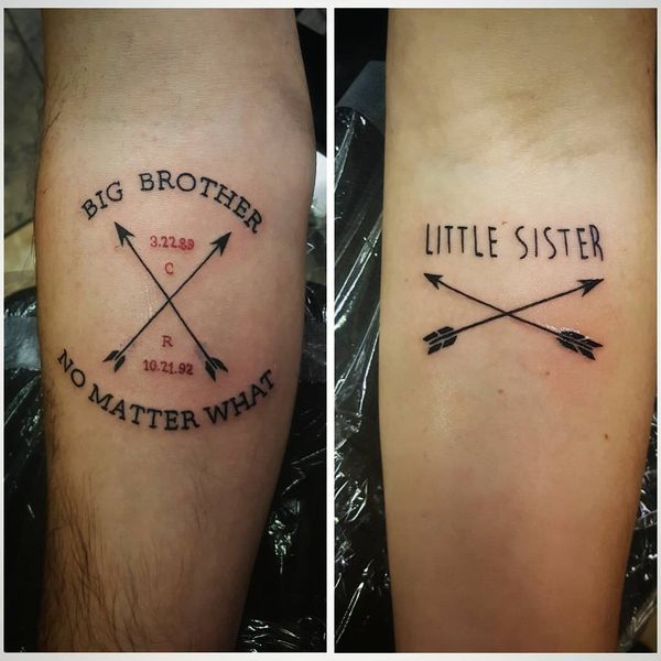 friend brother and sister tattoos