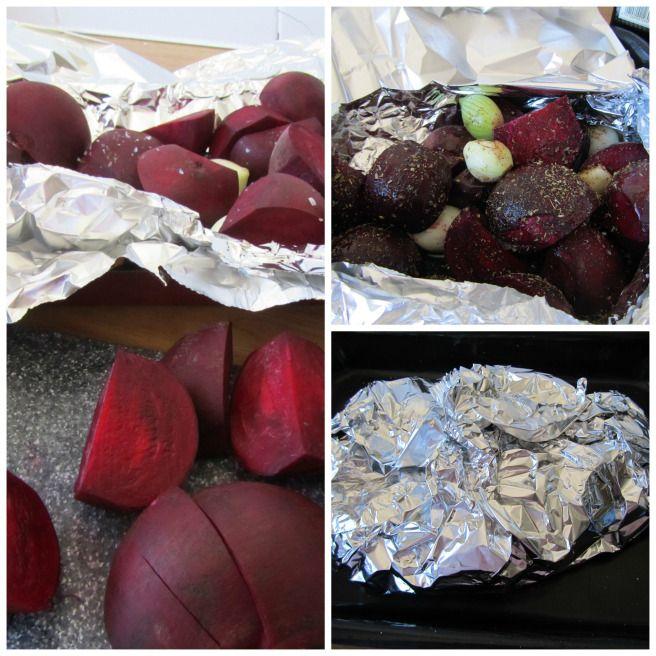 Baked Beetroot with balsamic vinegar, marjoram and garlic