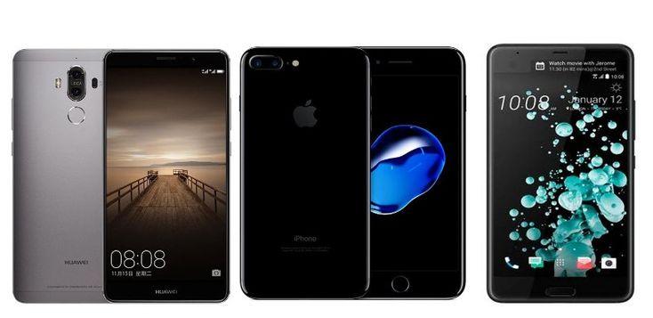 Huawei Mate 9 vs iPhone 7 Plus vs HTC U Ultra