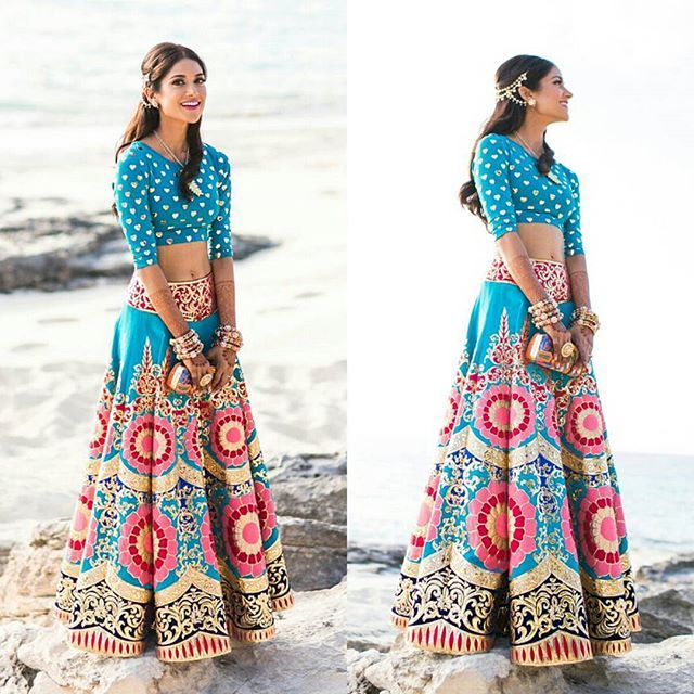 viyahshaadinikkah:  Image via @desibeaut and lehenga by @manisharorafashion