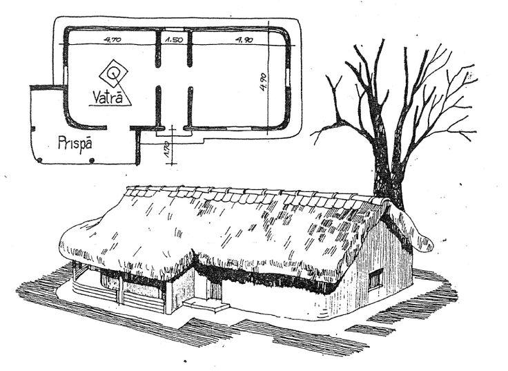 Casa dacica. (Dacian house)