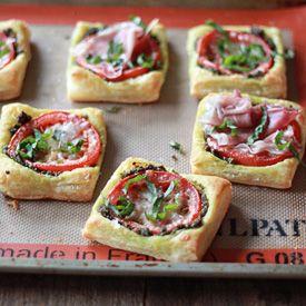 tomato pesto puff pastry tarts