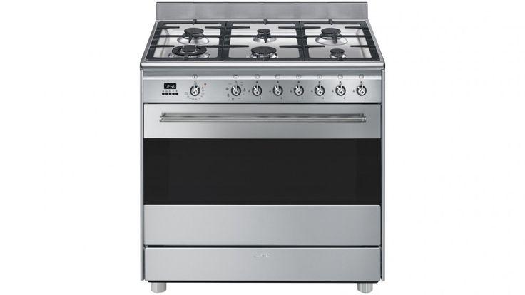 Smeg 90cm Freestanding Cooker with LED Programmer - Stainless Steel
