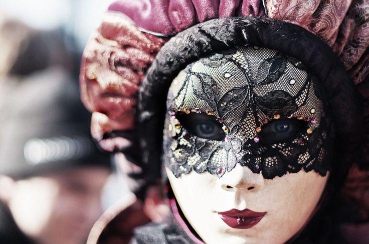 Carnaval, Veneza, Olhos, Máscara, Mulher