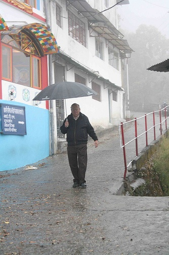 Ruskin Bond, during monsoon, Mussoorie