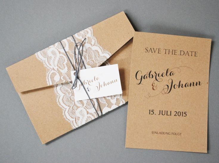 Pocket Fold Einladung   Vintage/kraftpapier I | Products, Hochzeit,  Einladung. Familieneinladungen   Kreative Einladungskarten ...
