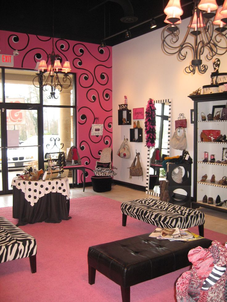 Beauty Salon Interior Design Ideas On Pink Boutique Interior Design