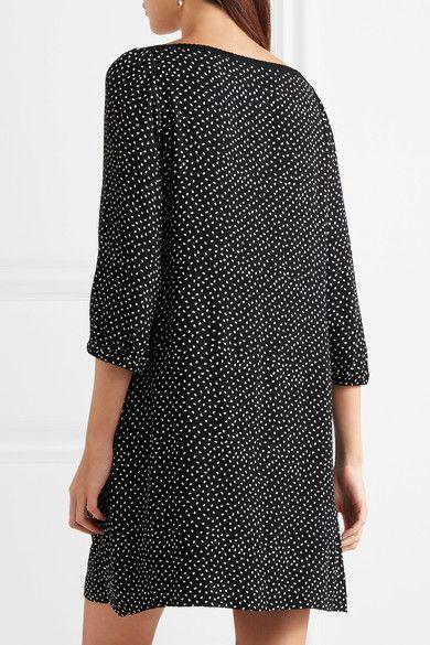 A.P.C. Atelier de Production et de Création - Embroidered Polka-dot Crepon Mini Dress - Black - FR36