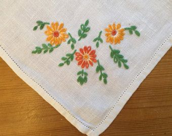 Beautiful vintage hand embroidered tray by GertieGussetsVintage