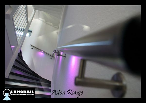 With it's stylish good looks and unique shape, the Aston is fast growing in popularity. Available in round handrails only, but in a range of sizes, the Aston Range looks amazing.  #LED Handrail
