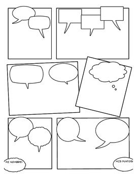 Blank Comic Strip.. Could use for students to create comic strip to demonstrate understanding of quotations